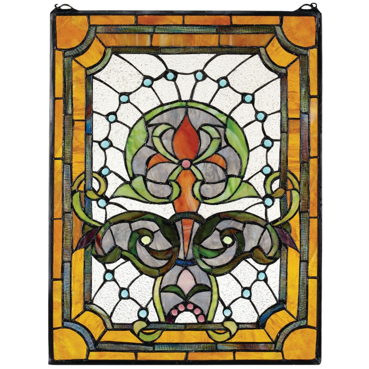Design Toscano Kendall Manor Stained Glass Window HD631