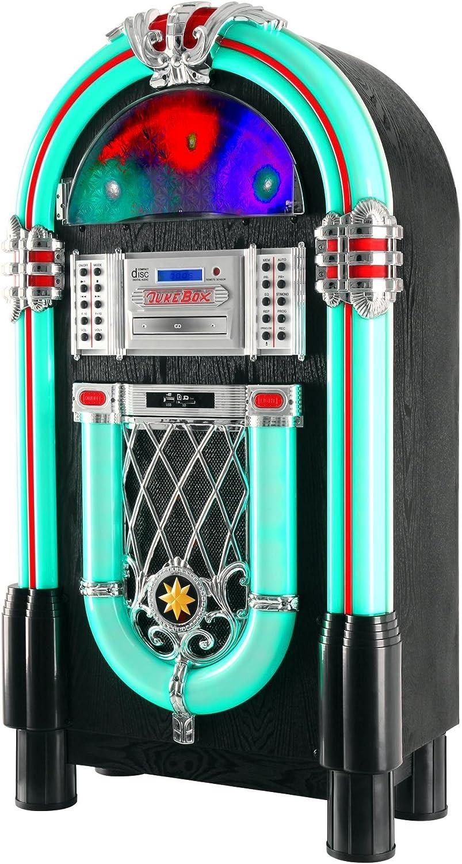 Beatfoxx Jukebox Goldenage años 40/50 con LP, CD, USB, Reproductor MP3, Radio y Bluetooth