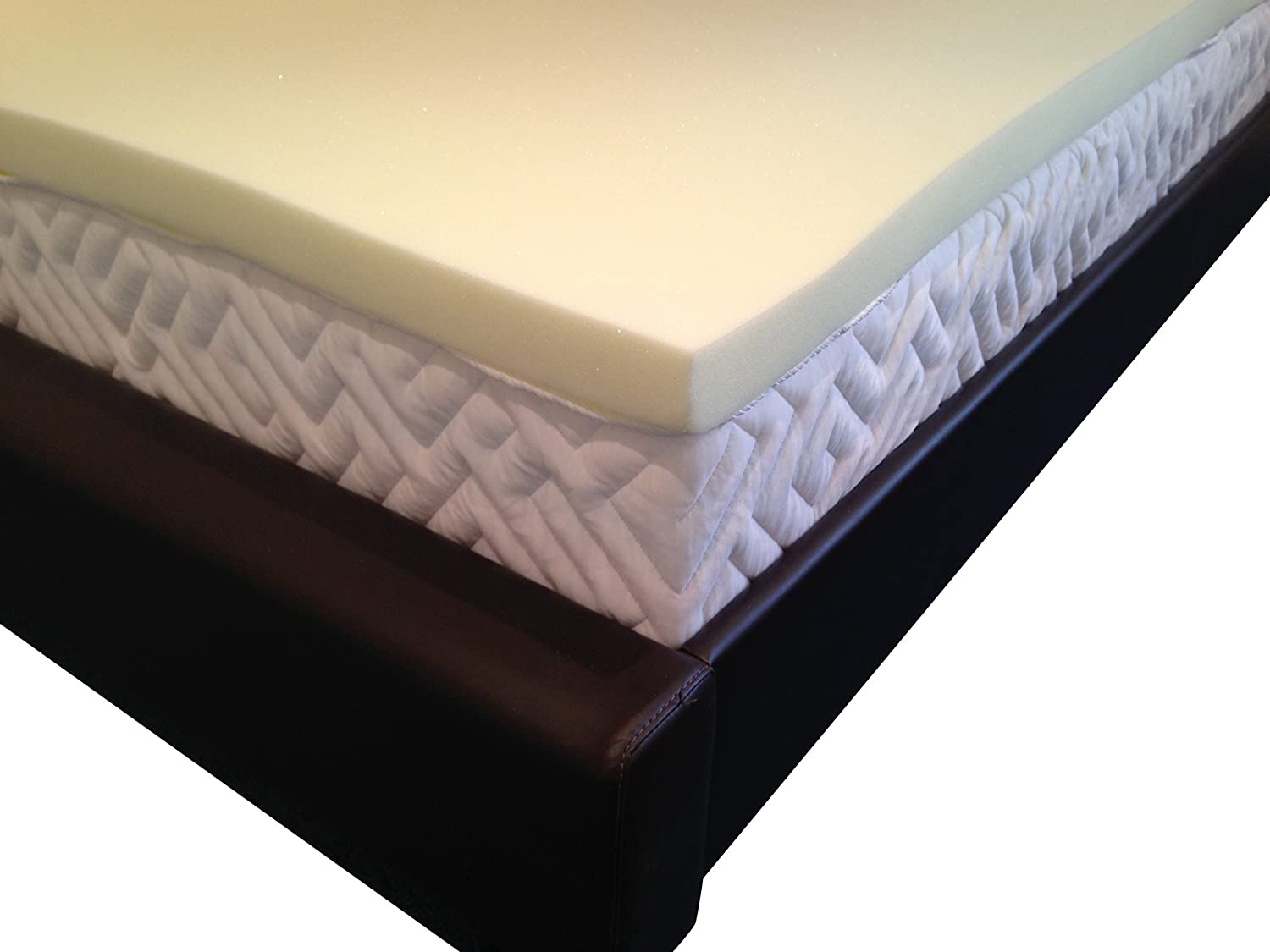 Memory Foam Mattress Topper with Cover, 2 inch - UK Single Orderexit