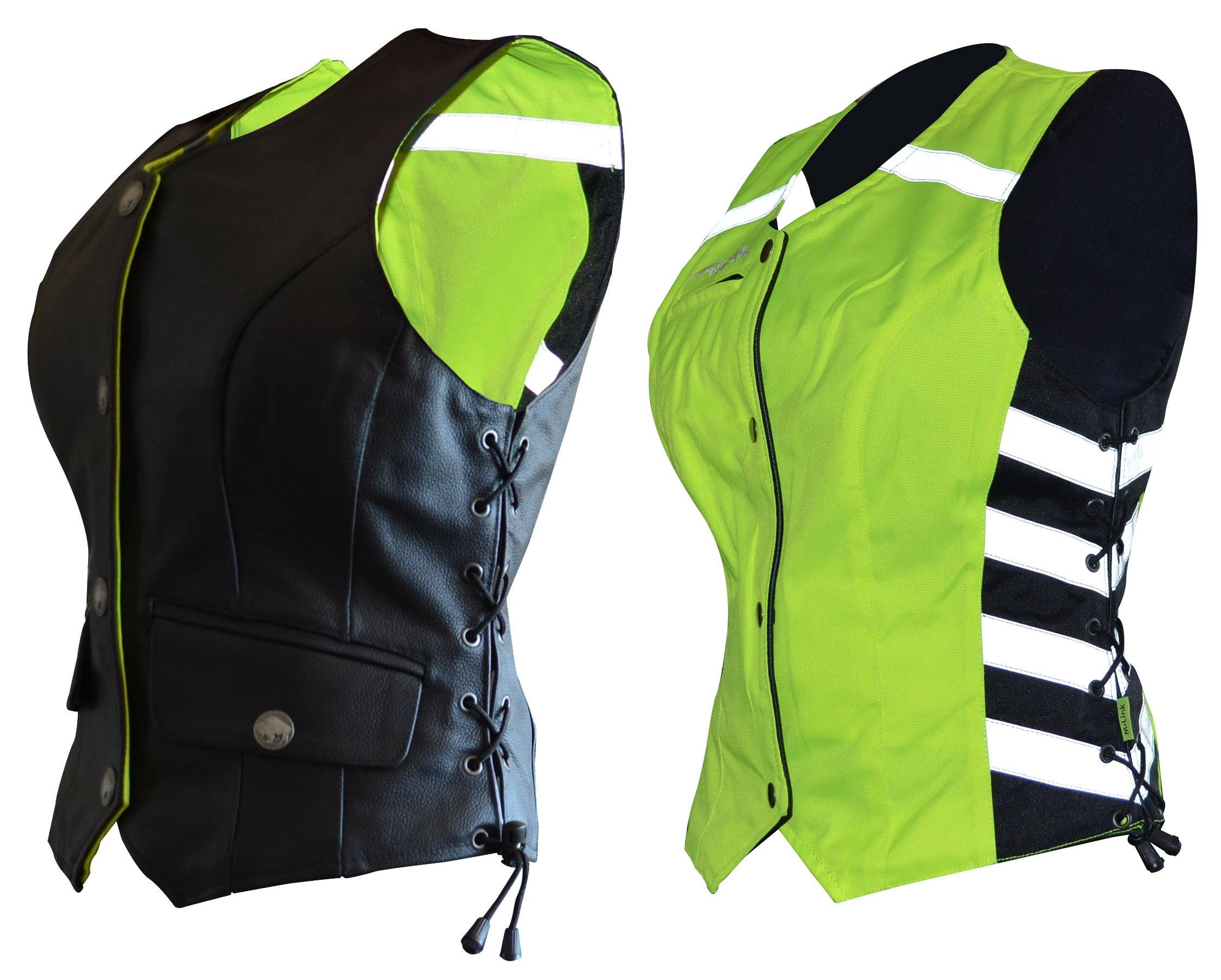 Missing Link Women's G2 D.O.C. Reversible Safety Vest (Black/HiViz Green, X-Large)