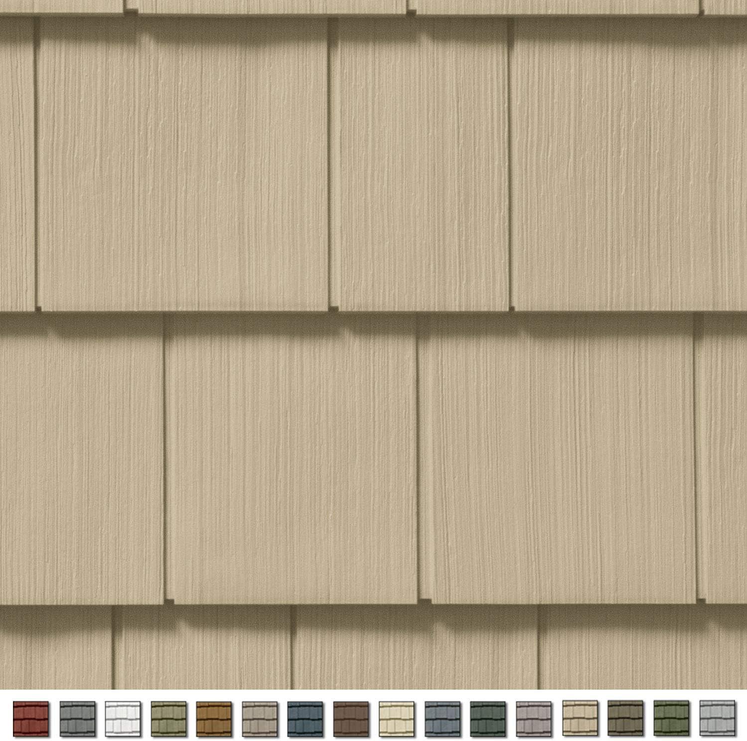 Cedar Impressions Double 7in. Straight Edge Perfection Shingles Siding (1/2 Square) Savannah Wicker