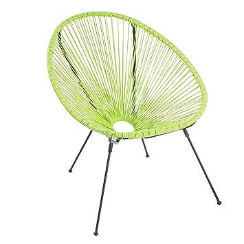 Riess Ambiente Moderner Acapulco Sessel Lime Gartenstuhl Wetterfest  Outdoorstuhl Relaxsessel Stuhl