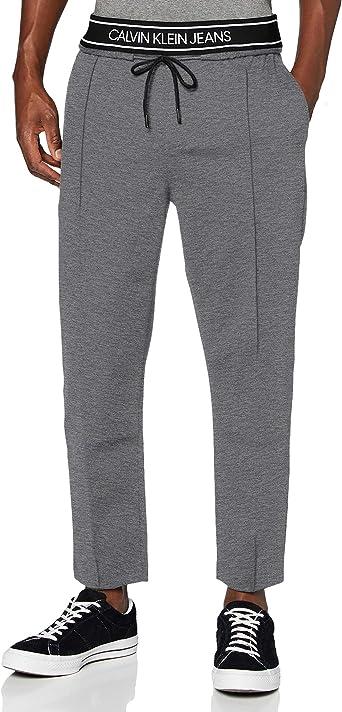 Calvin Klein Logo Tape Slim Melange Jogger Pantalones para Hombre