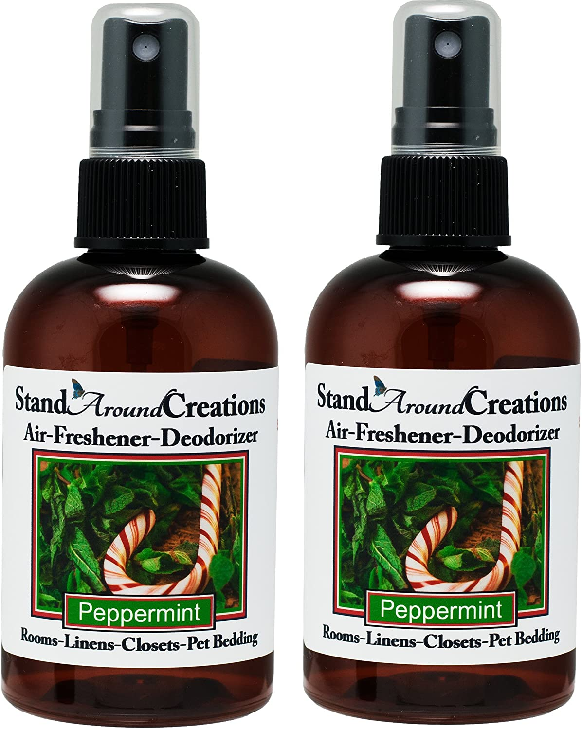 Concentrated Spray Air Freshener/Deodorizer   Peppermint  Great For: Cars,  Offices, Closets, Air Conditioners, Pet Beds, Yoga Mats, Litter Boxes, ...