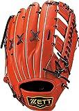 ZETT(ゼット) 野球 軟式 グラブ(グローブ) プロステイタス 外野手 右投用 ディープオレンジ/ブラック(5819) BRGB30717