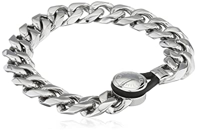 86741965d3fbd Tommy Hilfiger Men's Stainless-Steel Chain Bracelet with Etched ...