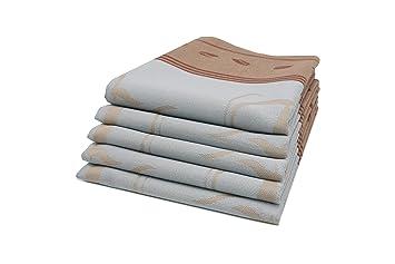 ZOLLNER Set de 5 Trapos de Cocina de algodón, 50x70 cm, Color Gris Claro