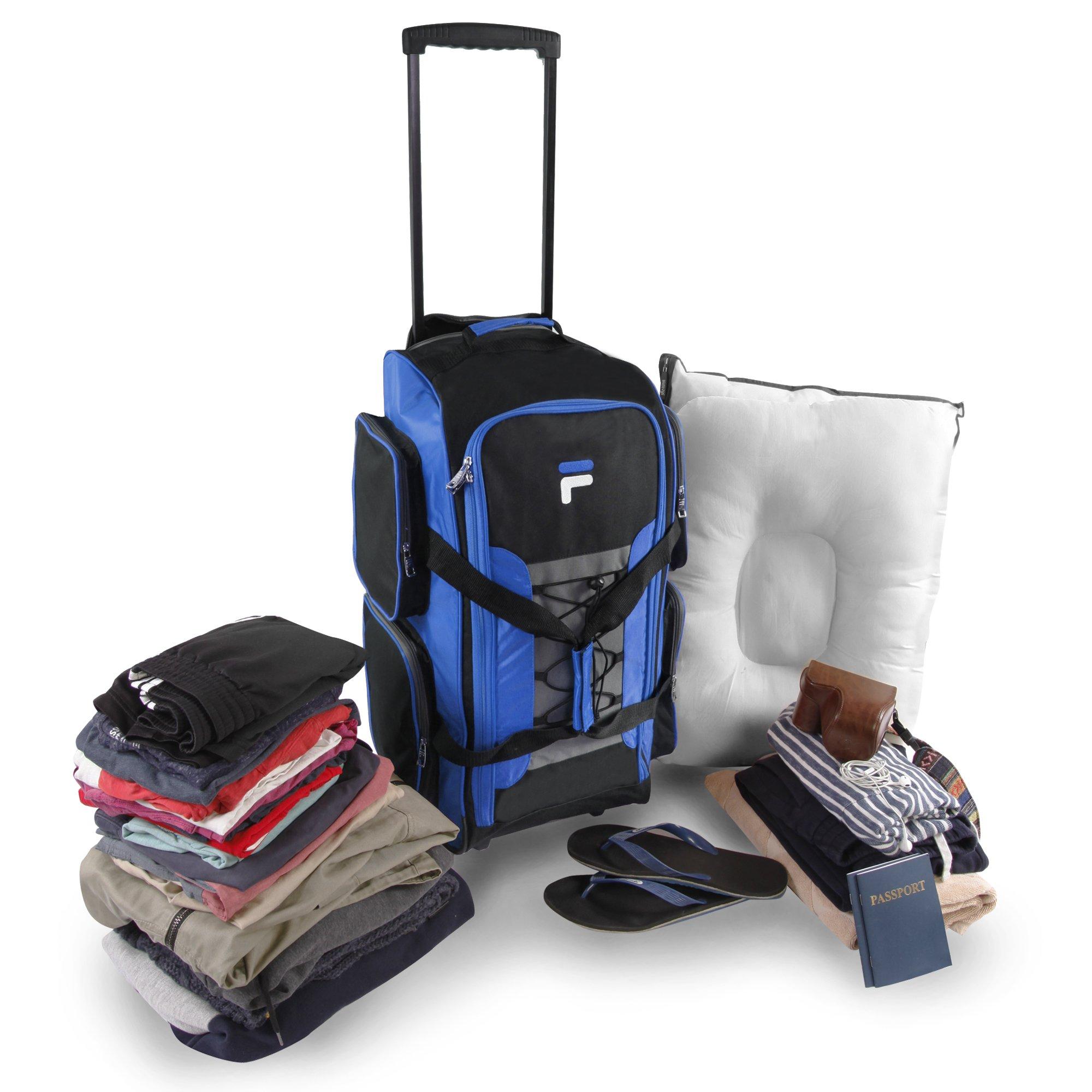 Fila 26'' Lightweight Rolling Duffel Bag, Blue, One Size by Fila (Image #10)