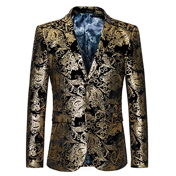 Amazon.com: Gold Blazer – Chaqueta para hombre, diseño ...