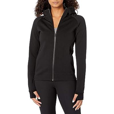 Brand - Core 10 Women's (XS-3X) Motion Tech Fleece Fitted Full-Zip Hoodie Jacket: Clothing