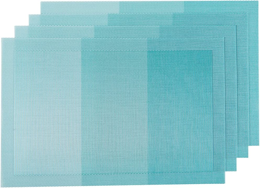SUNSHINE FASHION Placemats,Placemats for Dining Table,Heat-Resistant Placemats, Washable PVC Table Mats,Kitchen Table mats.Set of 4: Home & Kitchen