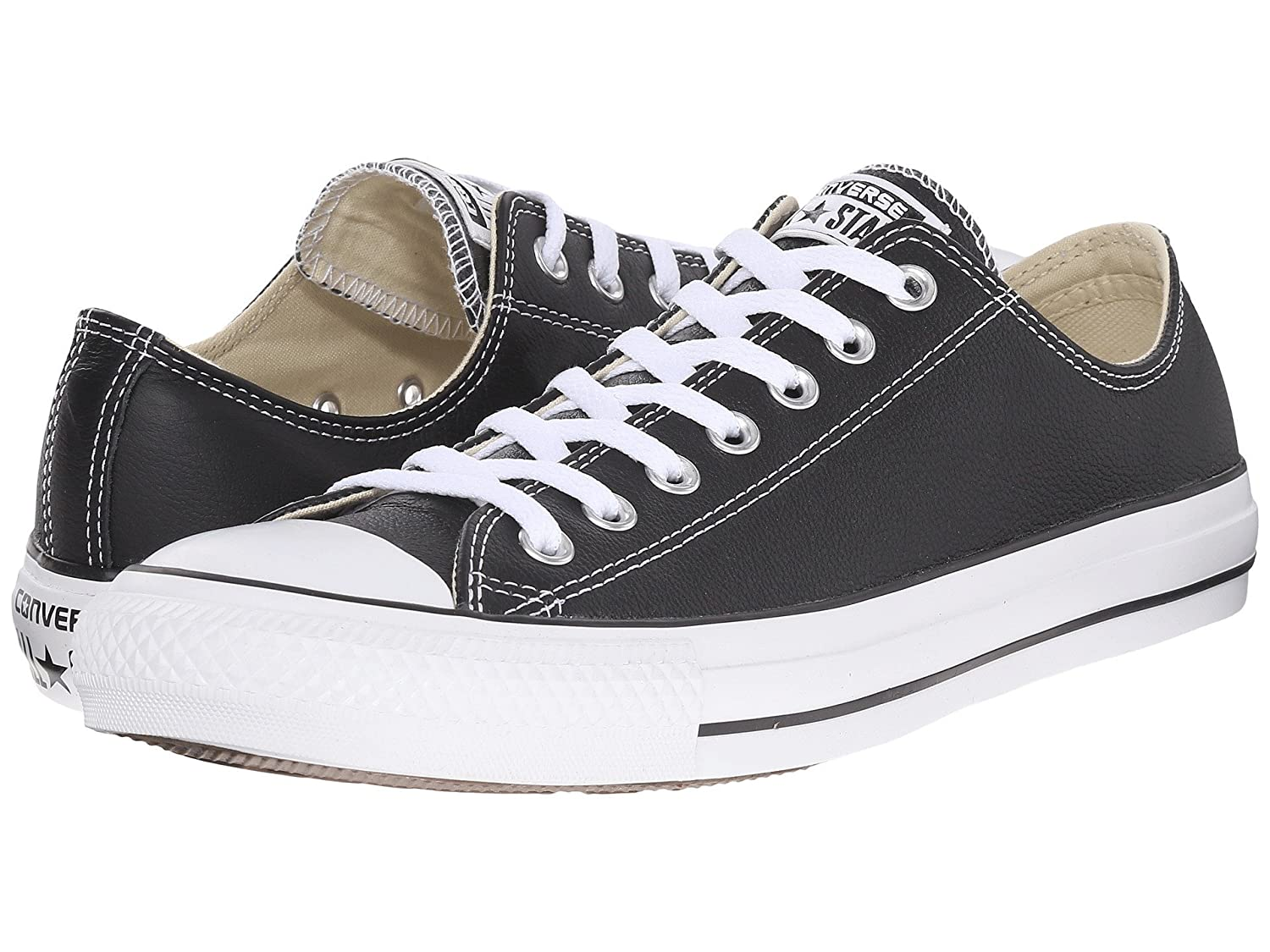 Converse Men's Chuck Taylor All Star Leather Low Top Sneaker B007PBEV48 6 M US|Black
