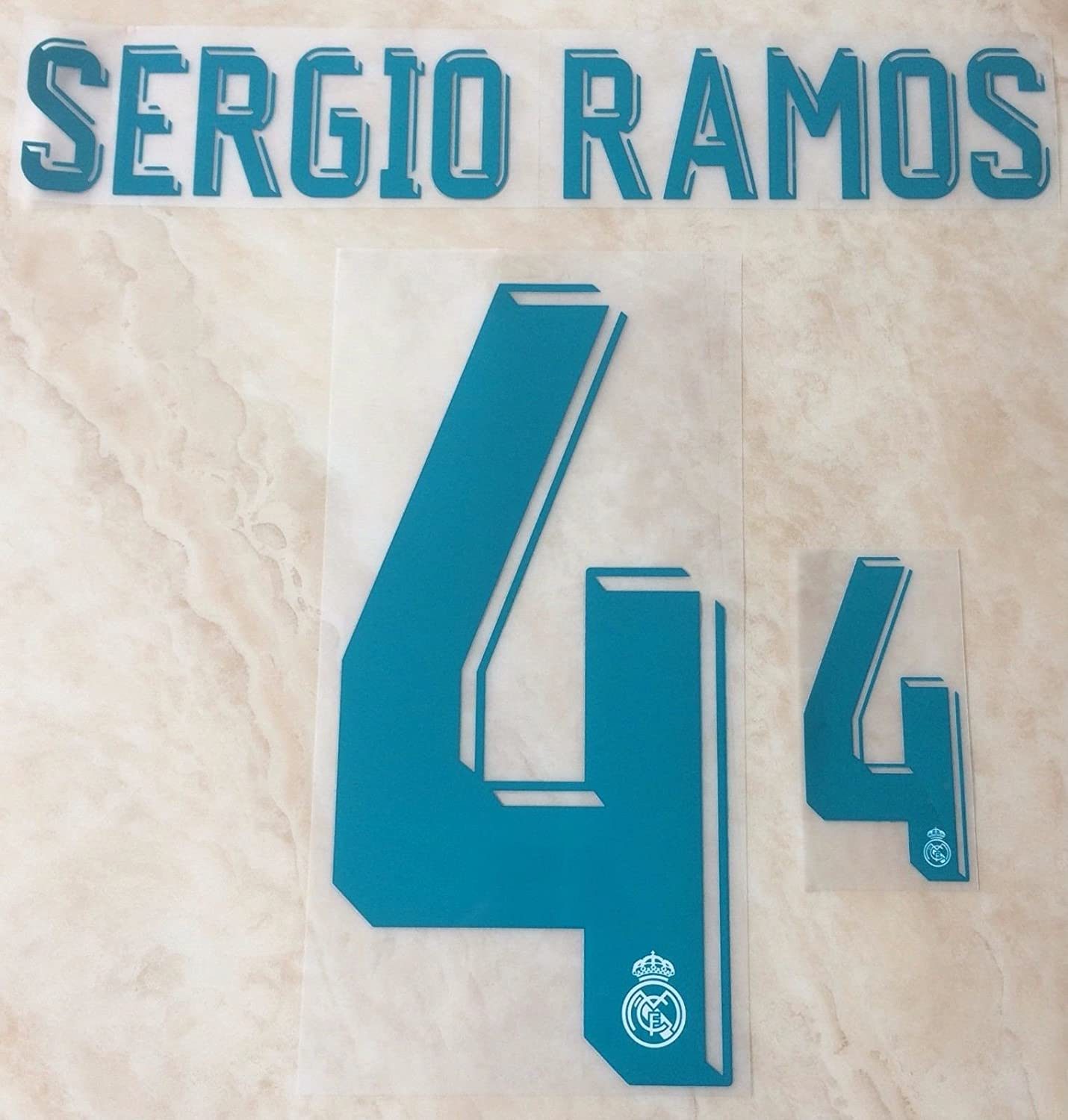newest collection 6143d f27f2 SERGIO RAMOS #4 Real Madrid Home 2017-2018 Soccer Jersey Kit ...