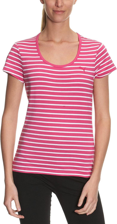 PUMA ESS - Camiseta para Mujer (algodón orgánico), diseño a Rayas ...