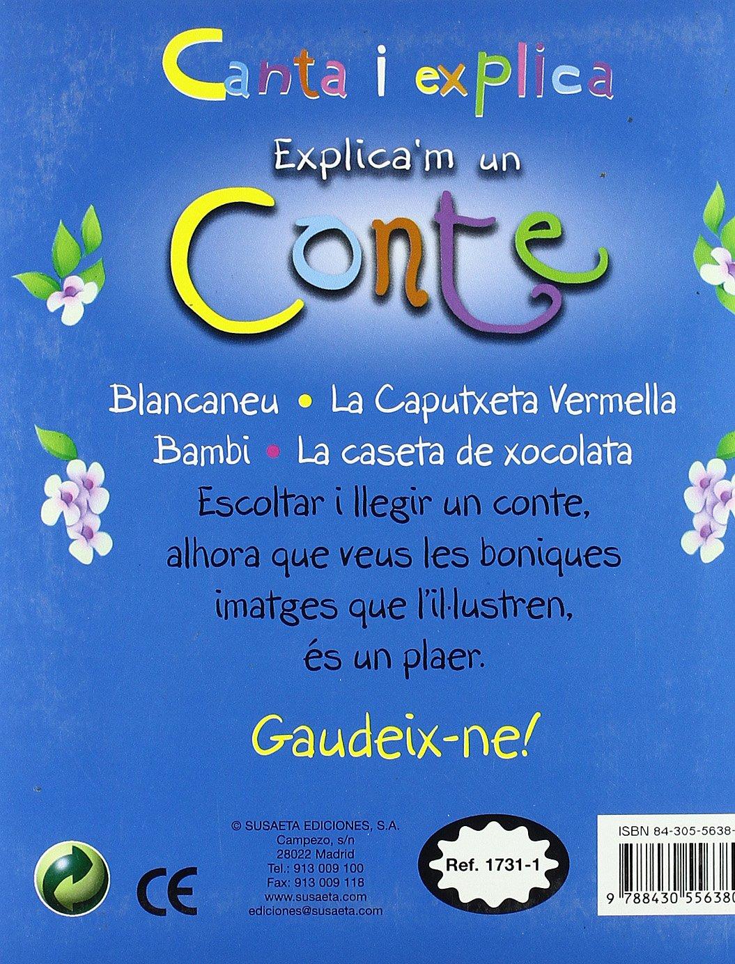 ExplicaM Un Conte (Canta I (Canta I Explica Amb Cd): Amazon.es: Vv.Aa: Libros
