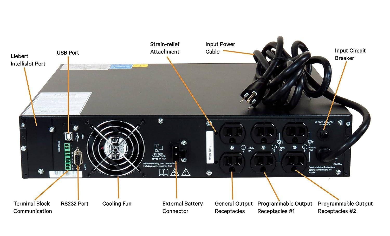 Vertiv Liebert Gxt4 700va 630w 120v On Line Double Electronic Circuit Breaker Diagram Image Conversion Rack Tower Smart Ups 700rt120 Electronics