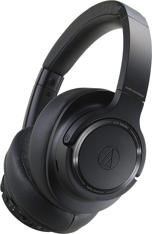Audio-Technica Ath-Sr50Bt Auriculares Inalámbricos Color Negro, Adjustable