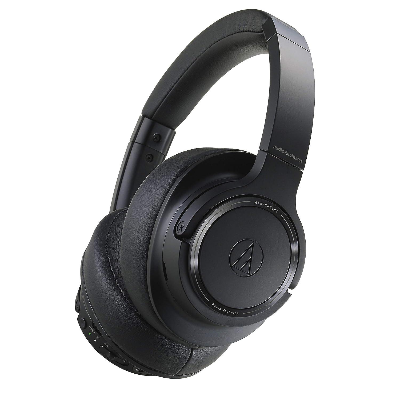 Audio-Technica ATH-SR50BT Bluetooth Wireless Over-Ear Headphones, Black