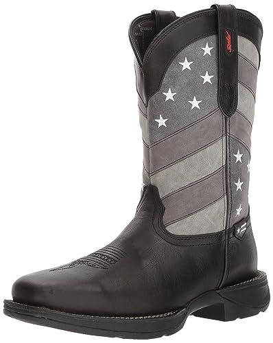e5991136540 Durango Men's Rebel Faded Flag Western Boot Square Toe