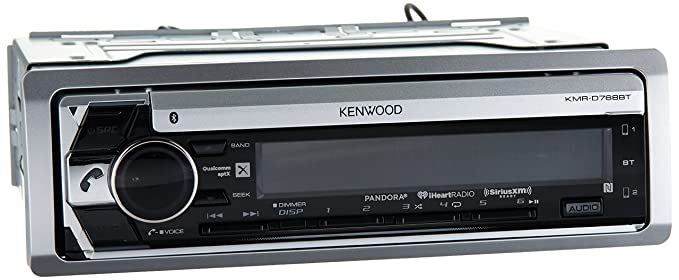 amazon com kenwood kmr d768bt marine cd receiver with built in rh amazon com Kenwood KDC Mp342u Wiring Harness Kenwood Wiring Harness Colors
