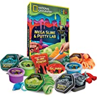 NATIONAL GEOGRAPHIC Mega Slime Kit & Putty Lab - 4 Types of Amazing Slime for Girls and Boys plus 4 Types of Putty…