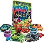 NATIONAL GEOGRAPHIC Mega Slime Kit & Putty Lab - 4 Types