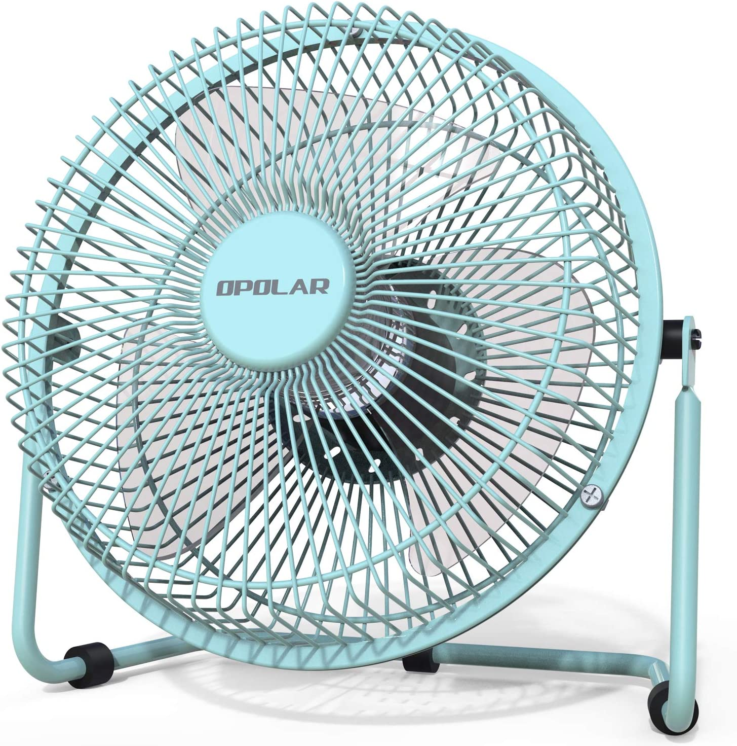 USB Table Desk Personal Fan 6 Inch USB Fan Office Desktop Bedroom Bedside Student Dormitory Silent Small Mini Fan for Home Office Table Color : Green, Size : One-Size