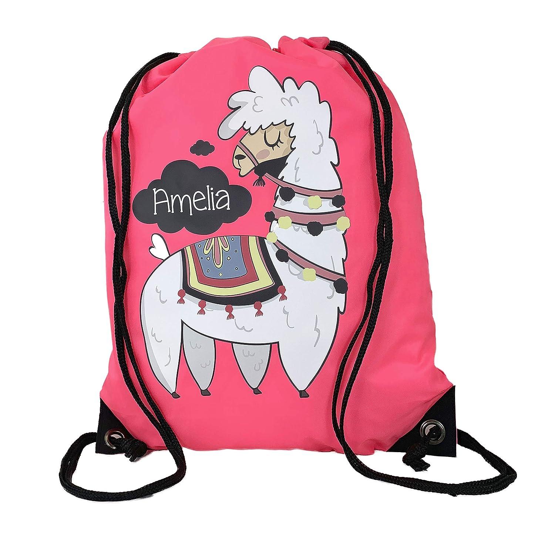 Childrens Kids Girls School Swimming Swim Dance Sports PE Bag Pink Drawstring