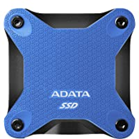 ADATA SD600Q 480GB Military Grade Light Compact Portable External SSD Solid State Drive (Blue)
