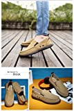 L-RUN Mens Canvas Loafer Comfort Slip on Casual