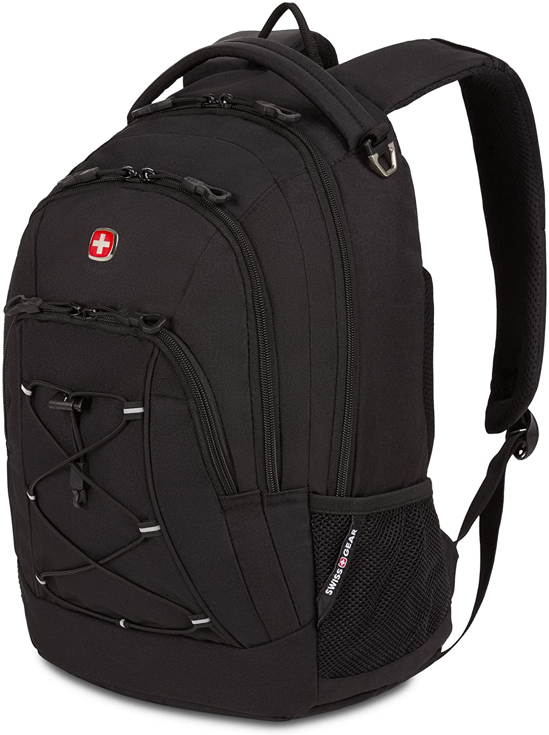 SWISSGEAR 1186 Bungee Laptop Backpack | Ideal for Commuting, Work, Travel, College, and School | Fits 13 Inch Laptop Notebook - Black