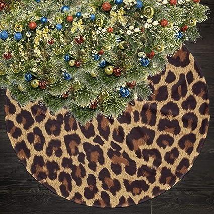 NALANXQ Christmas Tree Skirt Cool Cheetah Leopard Christmas Ornaments Skirts - Amazon.com: NALANXQ Christmas Tree Skirt Cool Cheetah Leopard