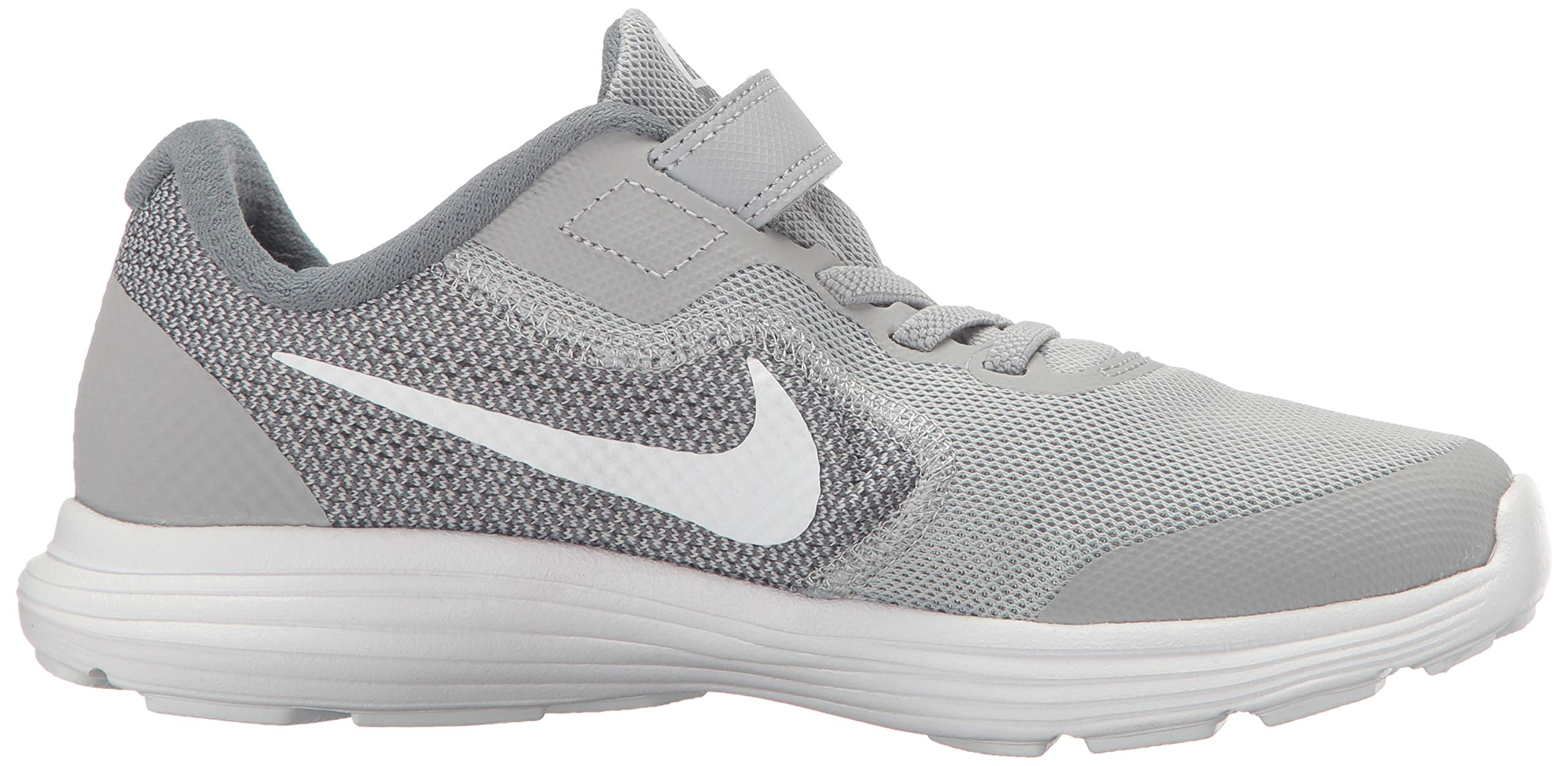 NIKE Kids' Revolution 3 (Psv) Running-Shoes, Wolf Grey/White/Cool Grey, 1 M US Little Kid by Nike (Image #6)