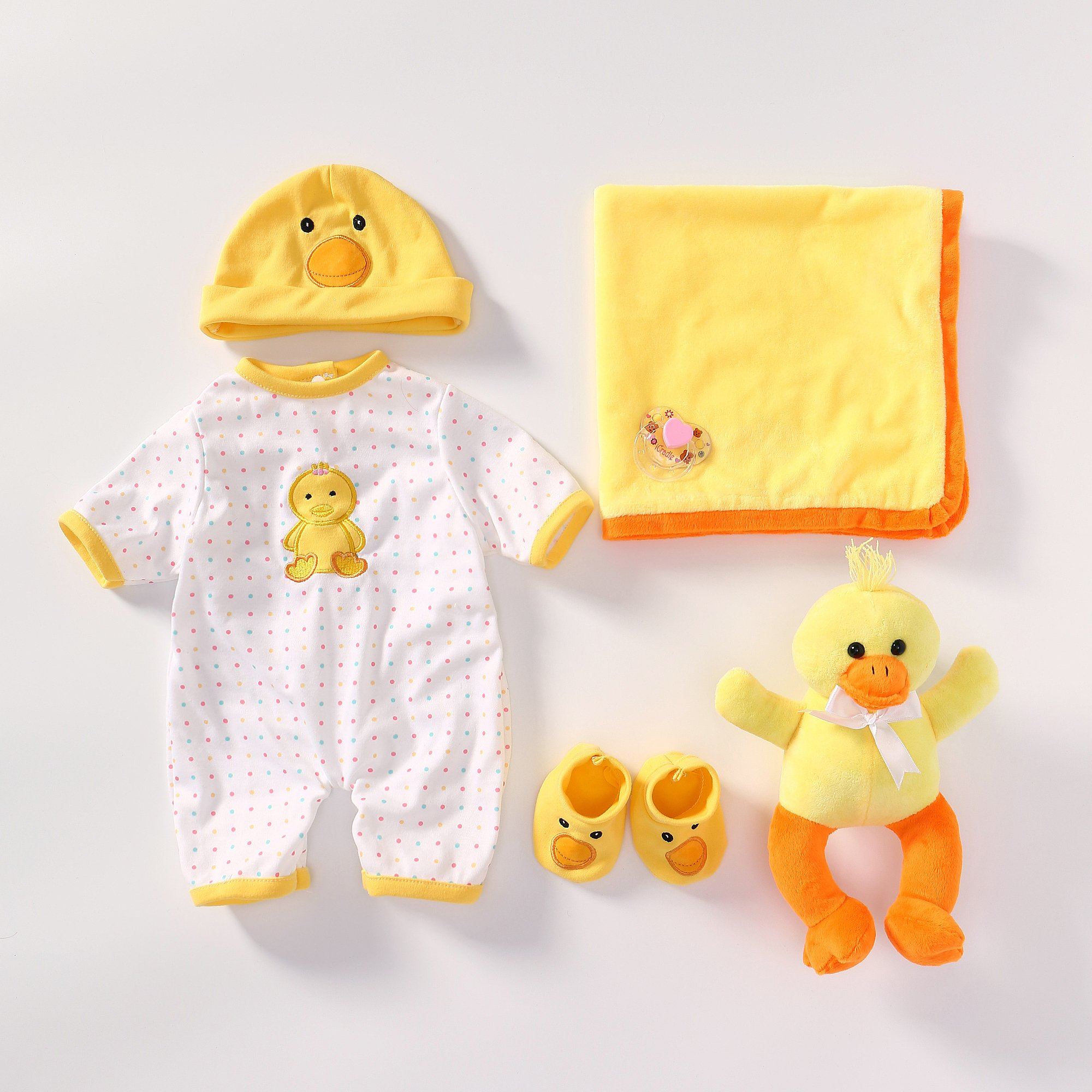 Reborn Baby Doll Outfits Accessories for 20''- 22'' Yellow Duck Pattern