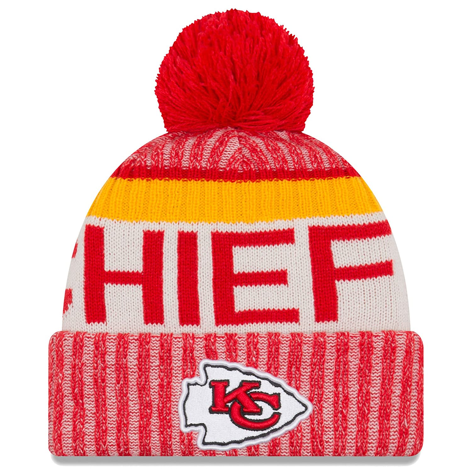 f5cdc833e New Era Kansas City Chiefs NFL Sideline On Field 2017 Sport Knit Beanie  Beany