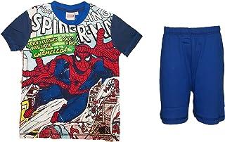 pigiama bimbo/ragazzo puro cotone mezza manica SPIDERMAN marvel art. MV16124B (8 anni, marine)