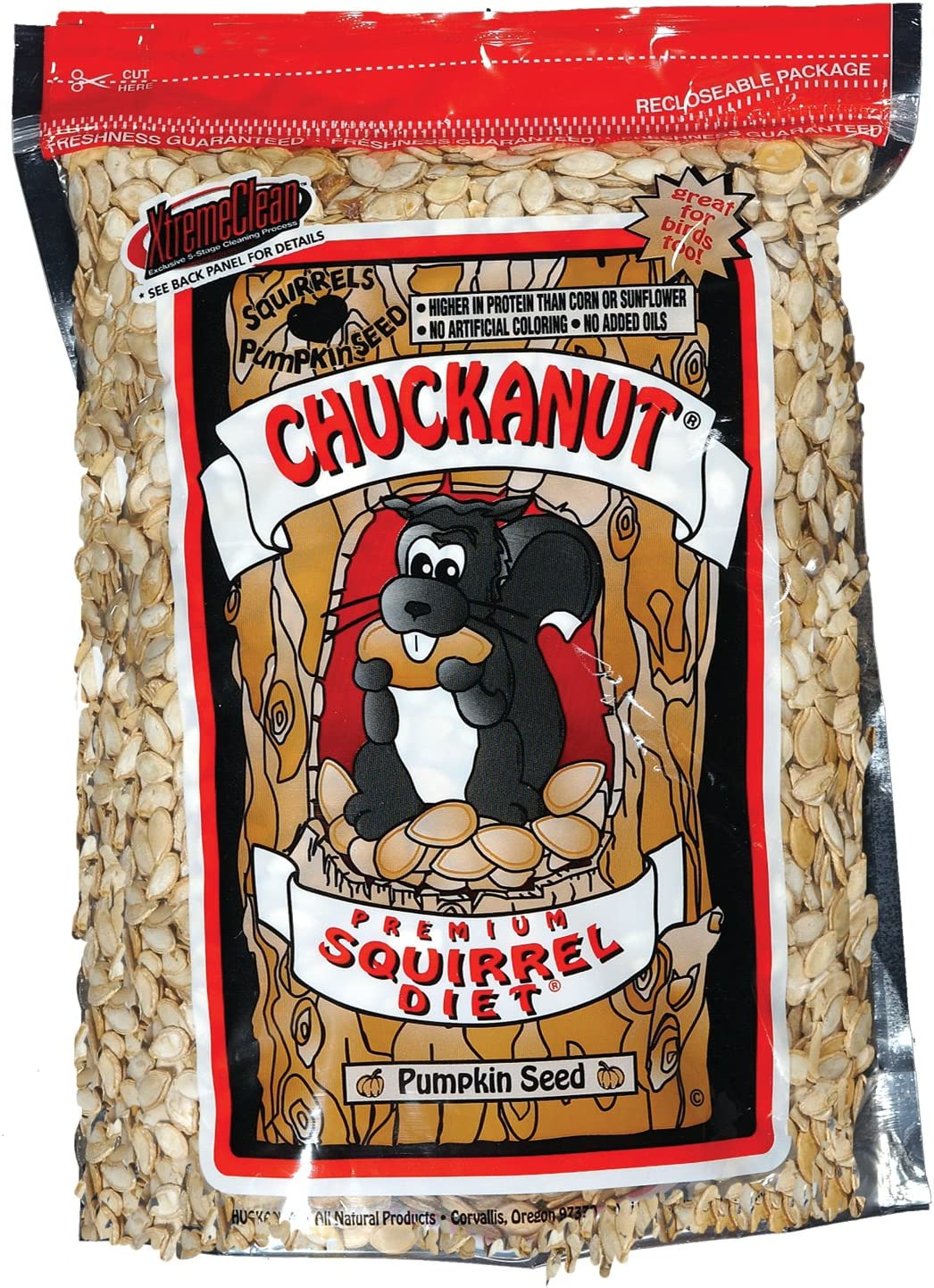 Chuck-A-Nut Natures Nuts 02002 3 Lbs Premium Squirrel Diet