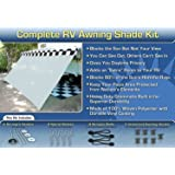 RV Awning Shade Net Motorhome Screen Net 8x16 (White)