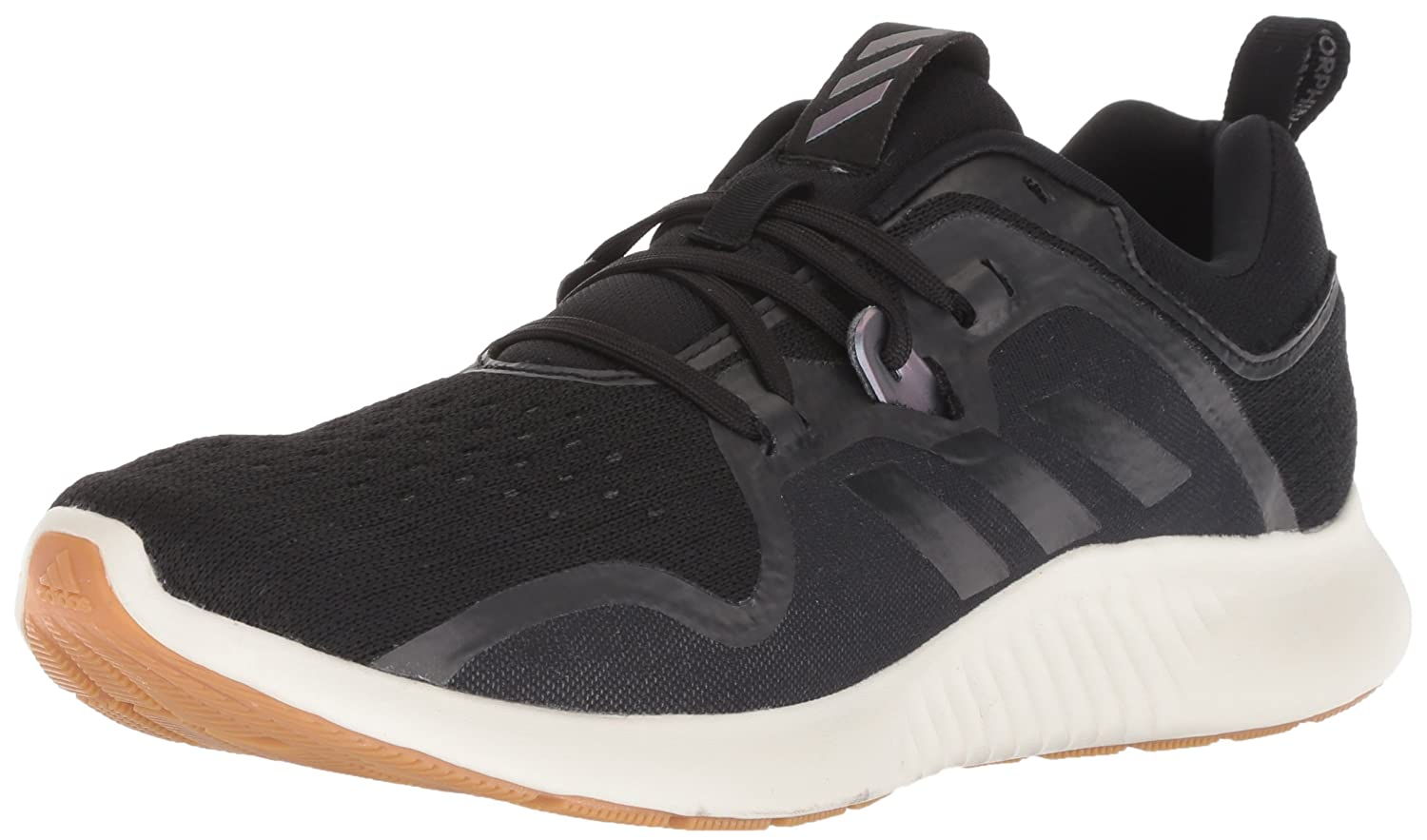 adidas Originals Women's Edgebounce Running Shoe B077XMK55H 10 B(M) US|Black/Black/Night Metallic