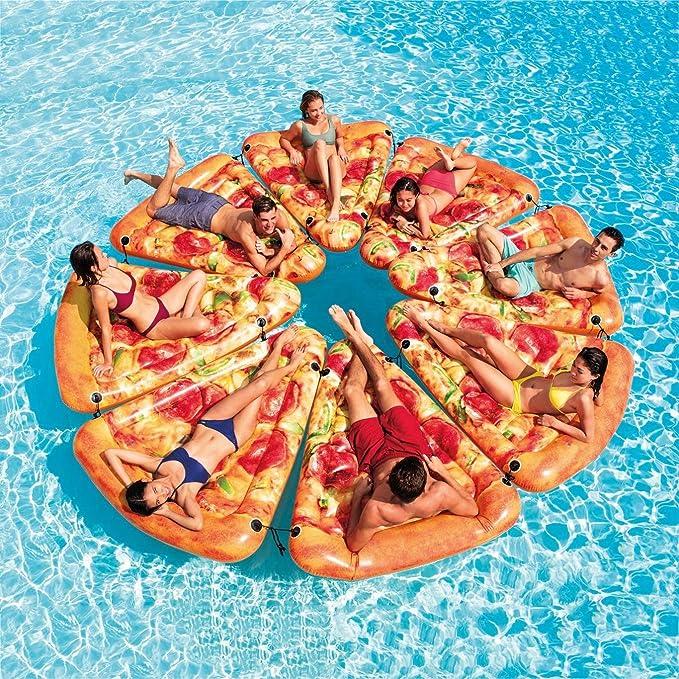 Pizza Slice Piscina Flotante Natación Inflable Juguete Diversión ...