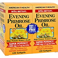 American Health Royal Brittany Evening Primrose Oil Softgels, 2 Pack - Promotes...