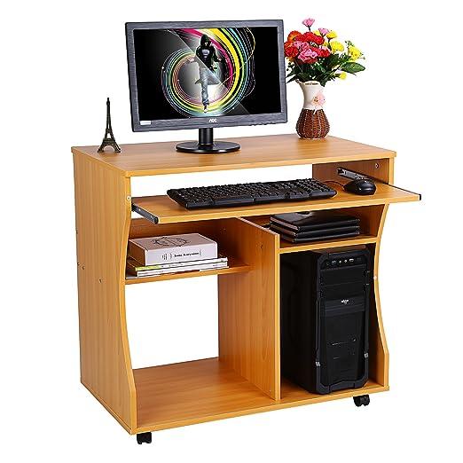 Zerone Escritorio de la computadora, Ordenador portátil Madera ...
