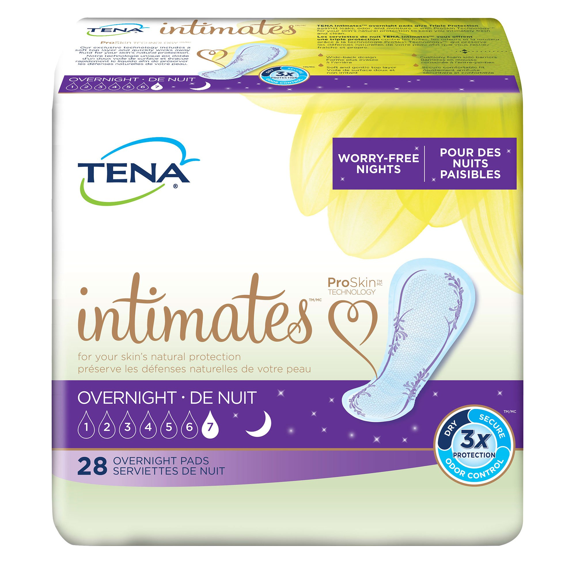 TENA Incontinence Pads for Women, Overnight, 28 Count (Pack of 3) product