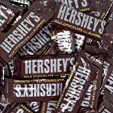 Hershey's Milk Chocolate Snack Size Bars, (Pack of 2 Pounds)
