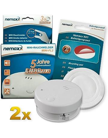 2X Detector de Humo Nemaxx Mini-FL2 Mini Detector de Fuego y Humo Detector con