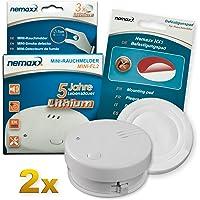 2X Detector de Humo Nemaxx Mini-FL2 Mini Detector