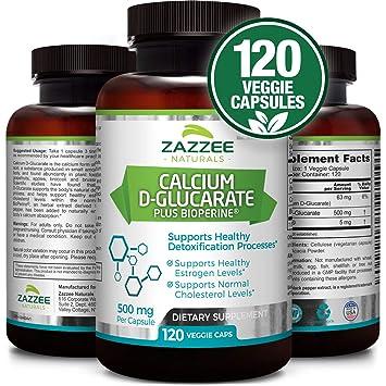 Amazon Com Calcium D Glucarate 500 Mg 120 Veggie Caps Plus 5