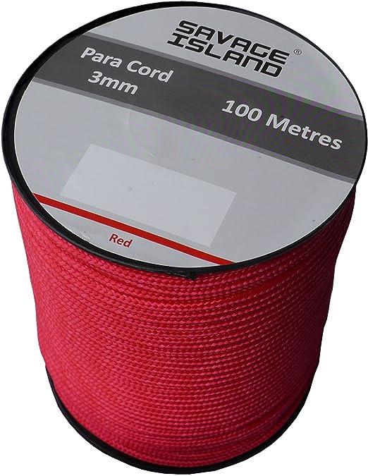 38 opinioni per Paracord bobina da 100mt color verde, nero, rosso coyote e rosso, stile esercito