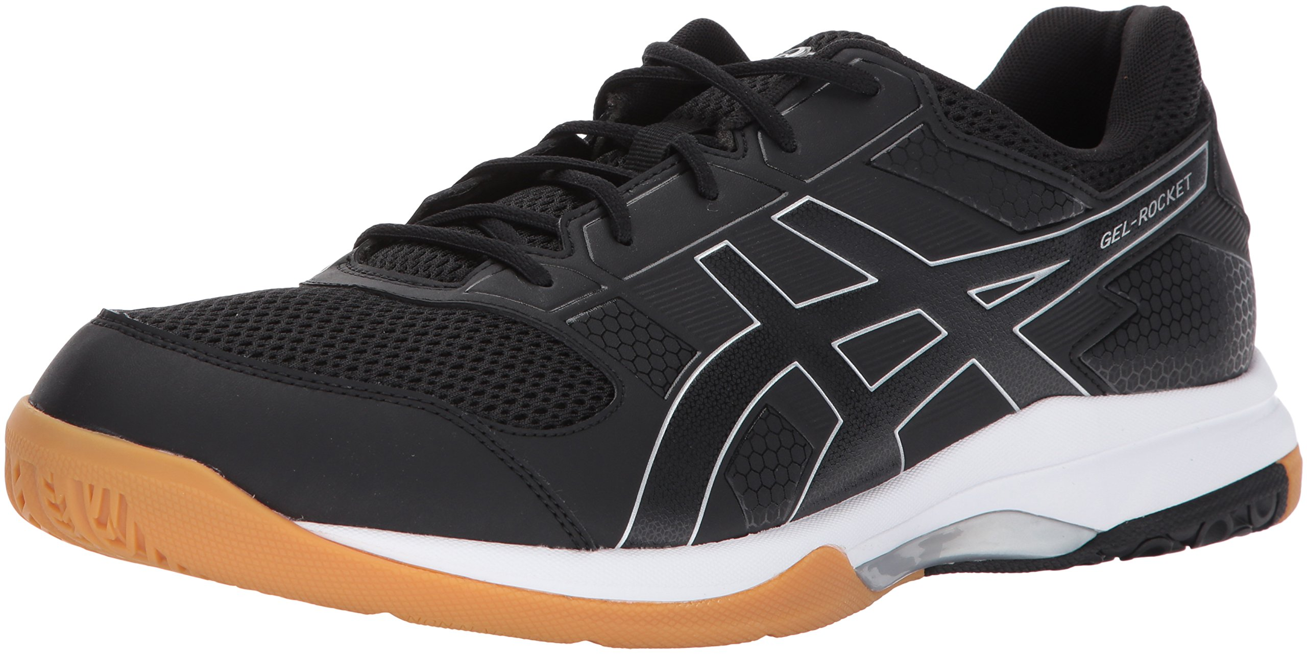 ASICS Mens Gel-Rocket 8 Volleyball Shoe Black/White, 7.5 Medium US by ASICS (Image #1)