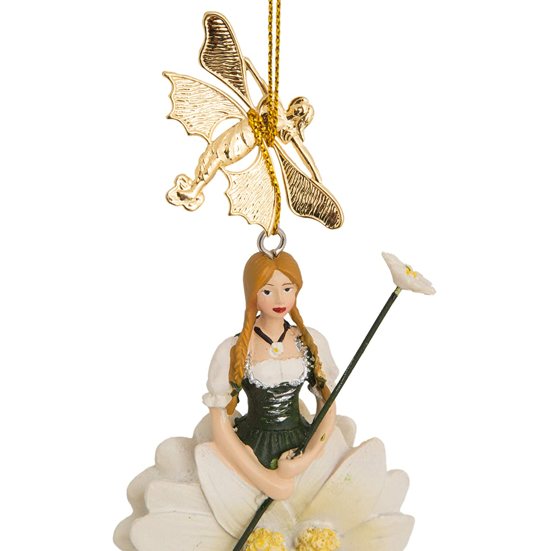 Figurine D/éco Fille Edelweiss Flower Fairy /à Suspendre
